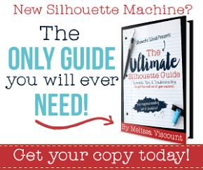 Need a Silhouette Book for Dummies? The Ultimate Silhouette Guide is perfect for Silhouette CAMEO and Portrait beginners and more advanced users! 160 pages of Silhouette tutorials for everything you need to know to get started with your Silhouette CAMEO machine.