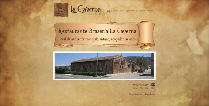 Restaurante La Caverna #website #design #Guellcom