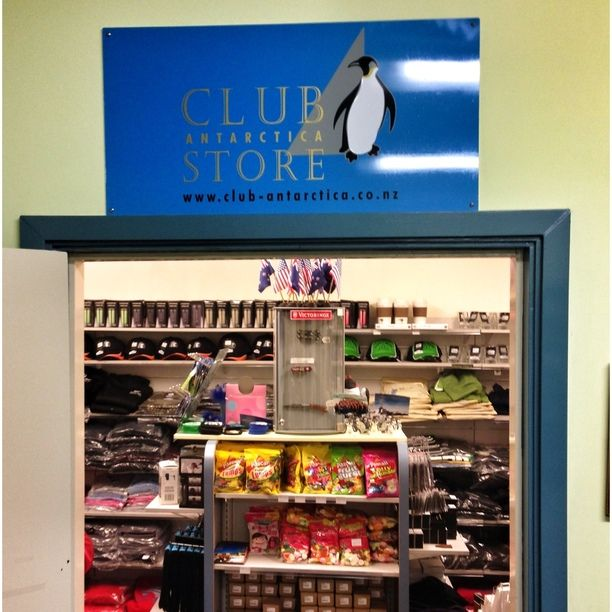 "Discovered by Fernando Begay, ""The Club Antarctic Store at Scott Base has t-shirts, souvenirs, shampoo, postcards, snacks.. it's located on the northside of Scott Base, near the post office."" at Scott Base, Ross Island, Antarctica #Holidays #Antarctica"