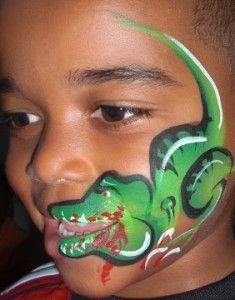 Krokodil schminken (voor gevorderden..)