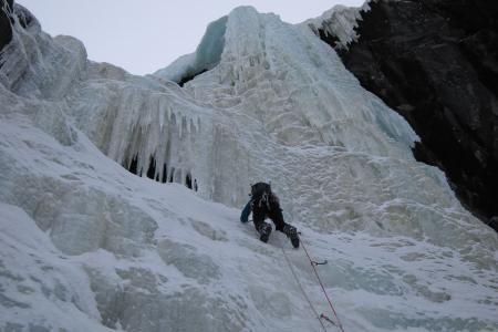 Gausta area ice climbing in Rjukan, Norway