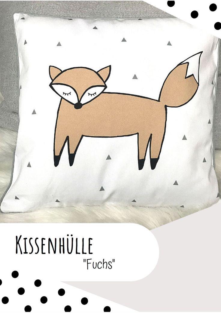 Kissenhulle 40x40 Fuchs Kissen Baby Geschenkideen Und
