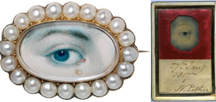 Mourning lovers eye jewelry portrait miniatures: Teardrop, Eye Miniatures, Golden Eye, States Police, Georgian Eye, Eye Jewellery, Lovers Eye, Eye Jewelry, Tear Drop