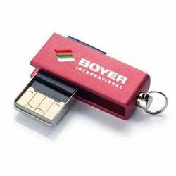 Mini memorias USB personalizadas baratas giratorias. Disponible en diferentes colores y tamaños de almacenaje.