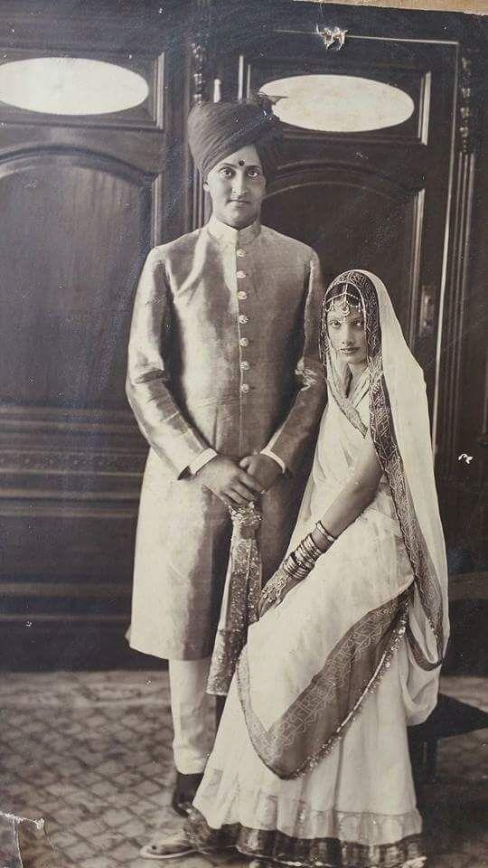Thikana dhargaon .Bhanej bai sahab princess rajpipla jayrajkumari with maharaj sahab dilipsinghji of jamnagar By Rohit Sonkiya