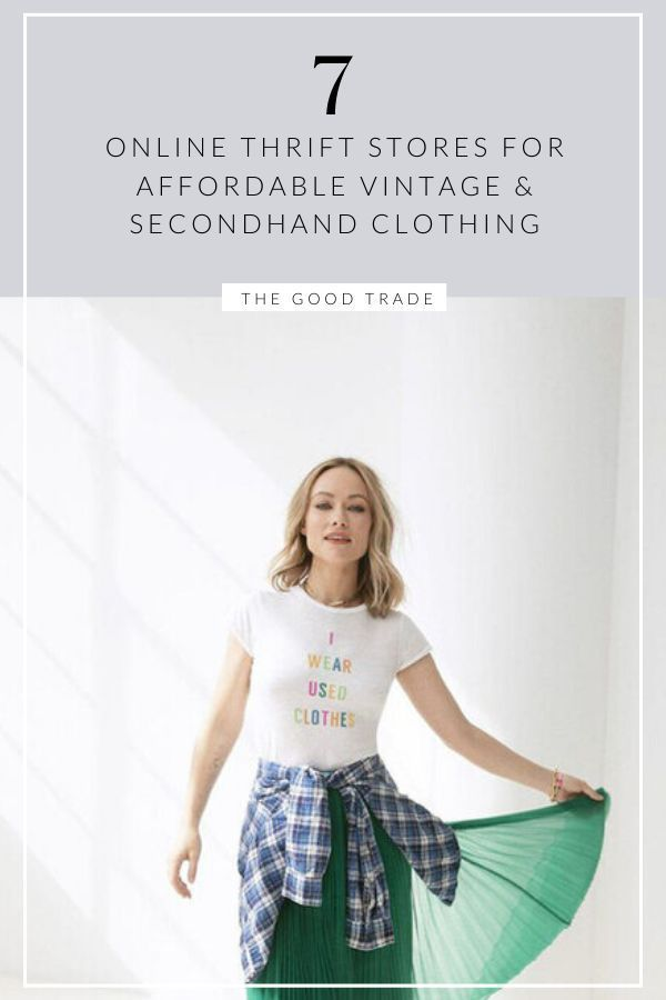 8 Online Thrift Stores For Affordable Vintage Secondhand Clothing Thrift Store Fashion Vintage Clothing Online Vintage Clothes Shop