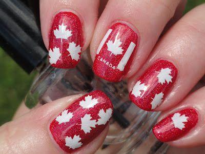 Canadian Nail Fanatic: Canada Day Nails