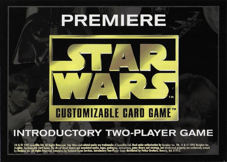 Image CCG STAR WARS edition 2 player CCG Premiere