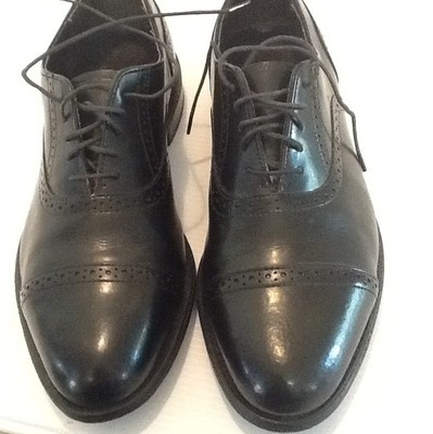 Men's Dexter Wing Tip 10 ½ M Oxford Comfort USA Made Dress Shoes Mad Men Style $24.99