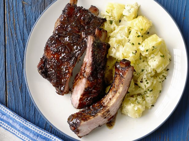 Sweet-Tea Ribs with Lemony Potato Salad Recipe : Food Network Kitchen : Food Network - FoodNetwork.com