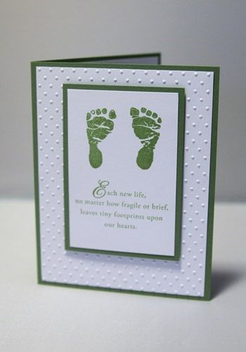 Footprints Baby Sympathy Card, Loss of Child Thinking of You Card, Infant Sympathy Greeting Card