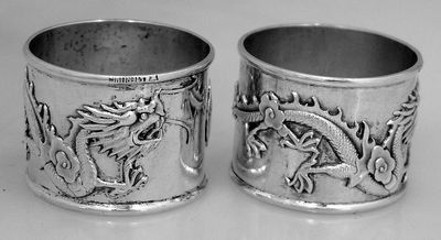 Silver Asian Napkin Rings