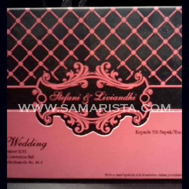 Happy Wedding and always get the best to a wonderful couple ❣ Stefani Liliana Siregar, S. Ip & Liviandhi Devris Biantoro, S. Hum -12 Desember 2013-  #kartu #undangan #cetak #samarista #pernikahan #perkawinan #art #bridal #cepat #murah #bandung #pengantin #best #seller #hard #soft #cover #desain #paper #love #couple #wedding #invitation