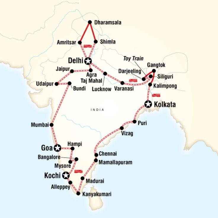 5 Incredible G Adventures Tours · Kenton de Jong Travel -Map of Indian Odyssey by Rail – Delhi to Delhi http://kentondejong.com/blog/5-incredible-g-adventure-tours