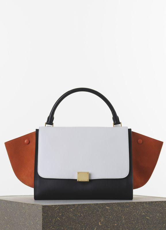 Medium Tze Handbag In Burnt Orange Multicolour Smooth Calfskin 30 X 24 15 Cm