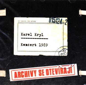 Výběrové album zpěváka Karel Kryl - Koncert 1989 (Archivy se otvírají) na 2 CD 2012