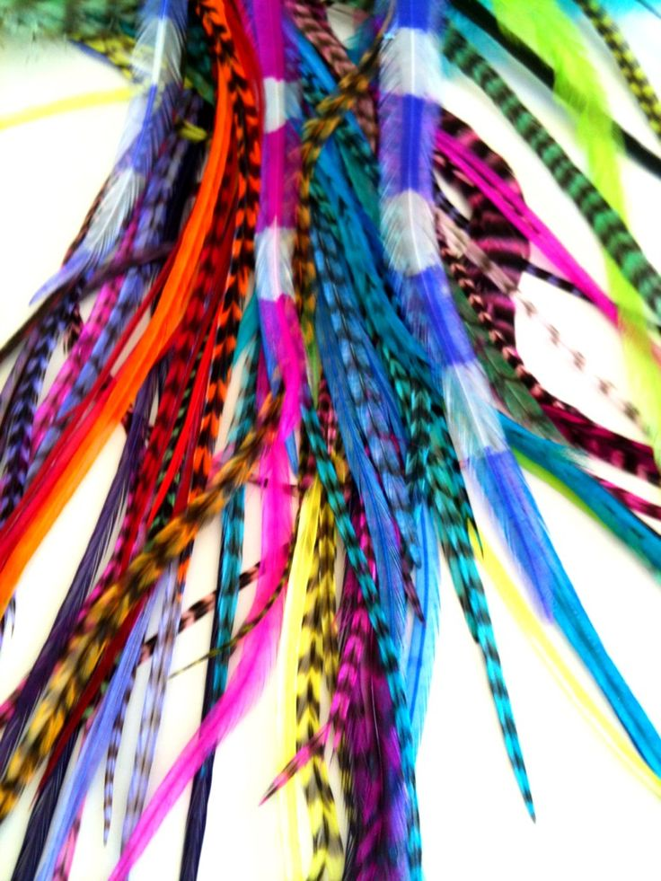 Only the Brightest & Best Hair Feathers supplied at Feather Fun Australia  www.featherfunaustralia.com ❤