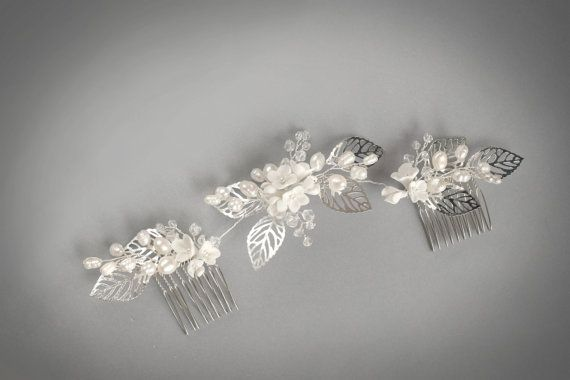 Wedding hair piece wedding headpiece with Freshwater pearls