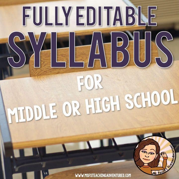 Syllabus Template for High School | Teaching (: | Syllabus