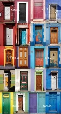doors of Valparaiso, Chile