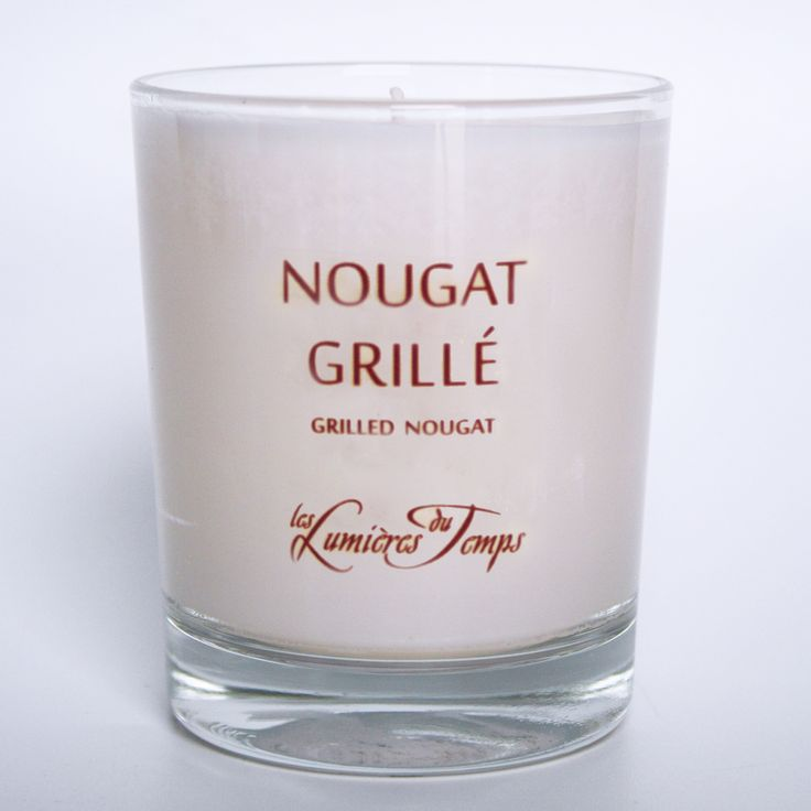 bougie parfumée artisanale végétale  sans fumée noire NOUGAT GRILLE