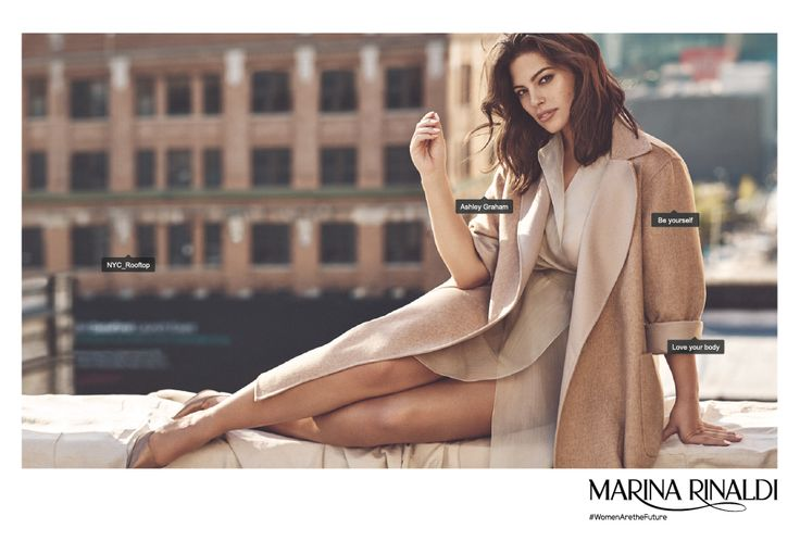 #womenarethefuture Ashley Graham for Marina Rinaldi SS17 campaign