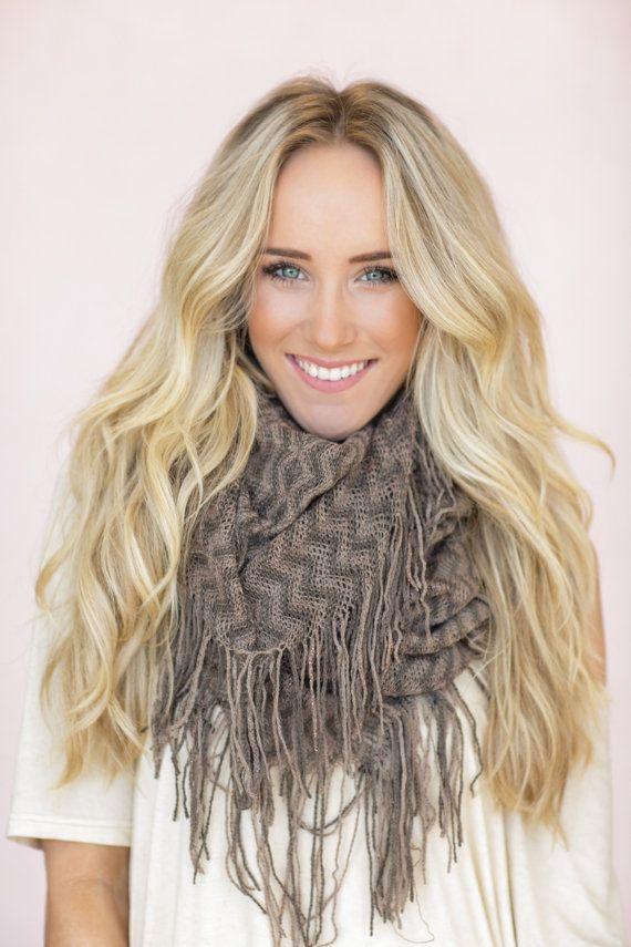 Tassel Scarf Chevron Scarves Cute Fashion by ThreeBirdNest on Etsy, $34.00