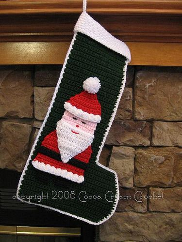 Santa Stocking by cocoacreamcrochet, via Flickr