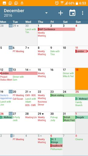 aCalendar Calendar & Tasks v1.16.6 [Paid]   aCalendar Calendar & Tasks v1.16.6 [Paid]Requirements:4.0.3Overview:aCalendar gives you many additional calendar features and your purchase supports further development and helps protecting the endangered Mountain Tapir.  aCalendar is the premium version of aCalendar - please try the free calendar app aCalendar first!  EXTRA FEATURES(aCalendar or as In-App-Purchase)  Public holidays (and school holidays for some countries) - configurable in the…