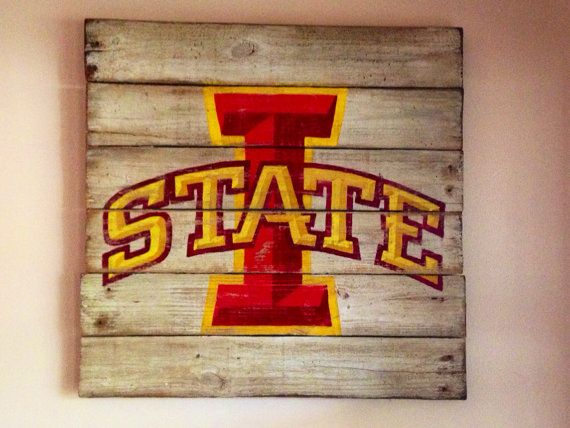 Iowa State University Wall Hanging by PalletsandPaint on Etsy, $40.00