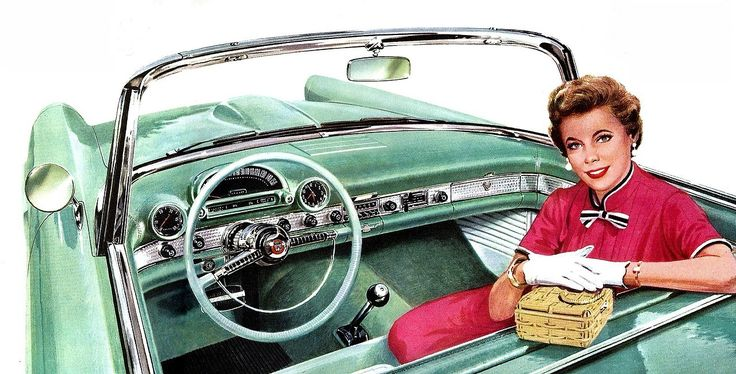 "hotrodzandpinups: ""classicmusclecarsx: ""prova275: ""T-Bird gal… 1955 Ford brochure illustration "" Click Here Buy Car Parts https://www.pinterest.com/shorrobi/classic-auto-trader/ Vintage Cars Classic Car Trader "" HRP """