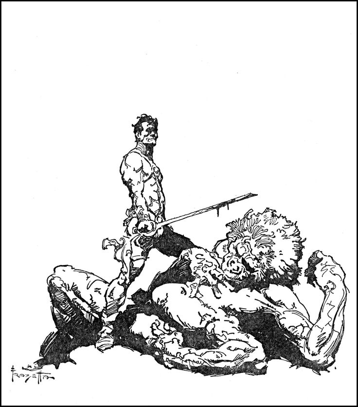 John Carter of Mars, Frazetta, this one actually kind of looks like the artist.  http://goldenagecomicbookstories.blogspot.com/