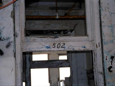 The legendary room 502 at Waverly Hills. The story goes that an unwed, pregnant nurse, who was unable to convince the married father of her baby to leave his wife, hung herself just outside of this room. Today, this room has beem know to cause strange things to any woman who dare enter...