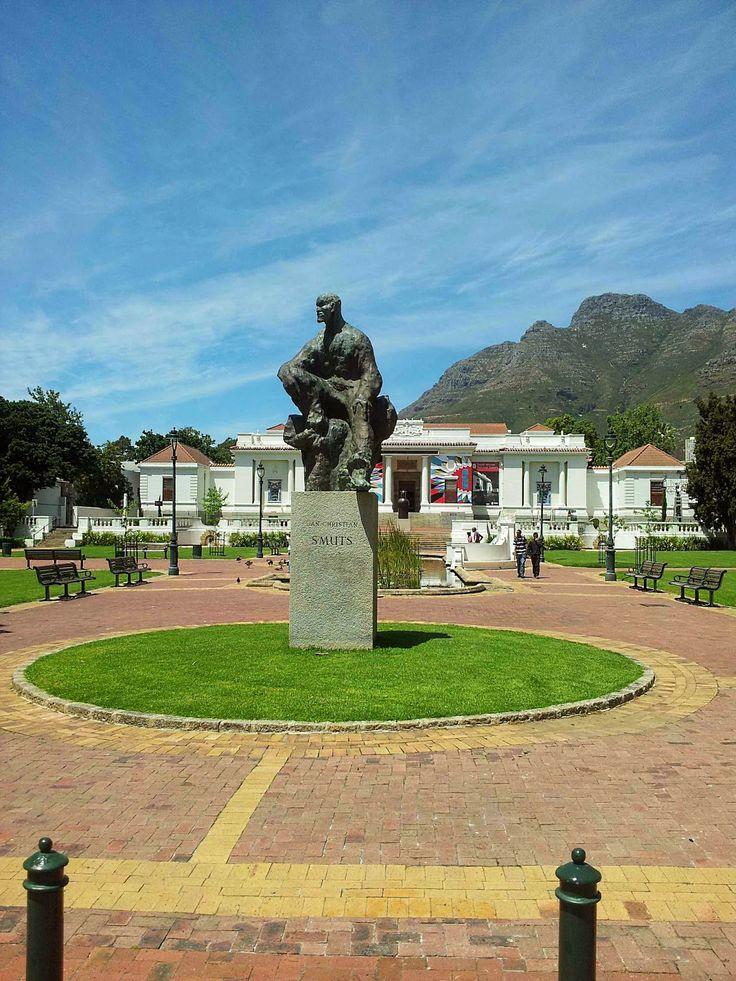 Jan Smuts statue in Company Gardens in Cape Town, South Africa. BelAfrique your personal travel planner - www.BelAfrique.com