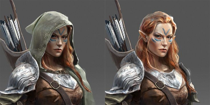 A fun character design exercise, largely inspired by the Scoia'tael of the Witcher universe.