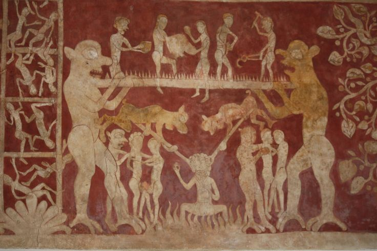 1000 images about medieval depictions of purgatory on for Chaldon church mural