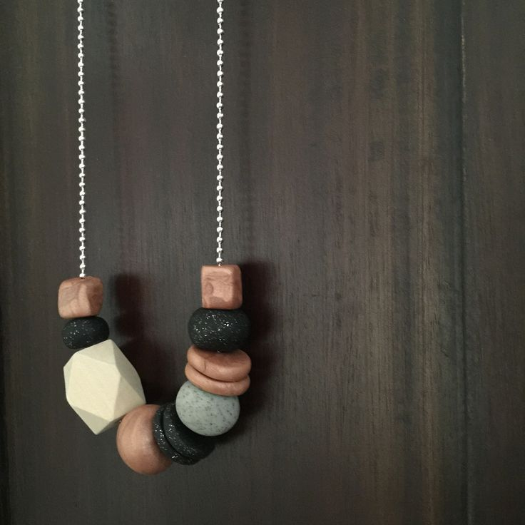 Love <3 Necklace - Copper Love in Polymer Clay