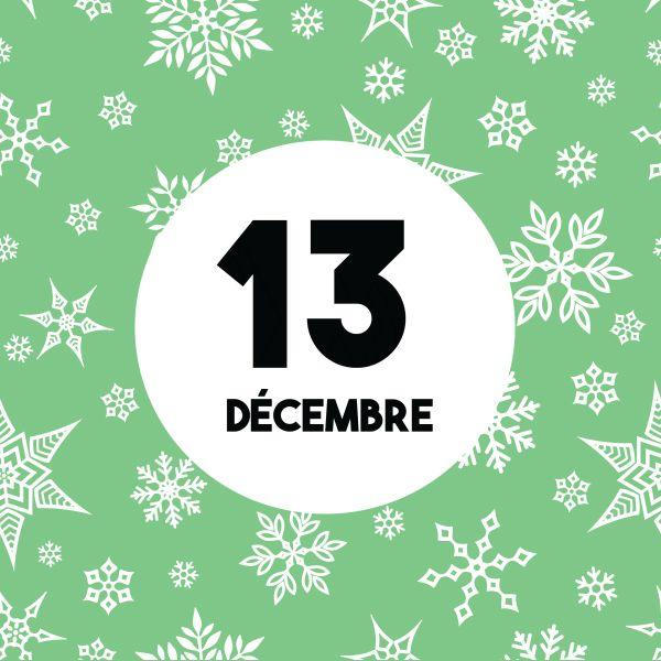 Calendrier de l'Avent : Nous sommes le 13 Décembre... Partagez chaque jour le calendrier de l'Avent sur votre mur pour le faire découvrir à vos amis !   www.merci-facteur.com  #Jour13 #calendrierdelavent #calendrier #avent #avent2016 #decembre #hiver #noel #sapin #decoration #guirlande #chien #calendar #december #winter #christmas #adventcalendar #christmastree #garland #dog