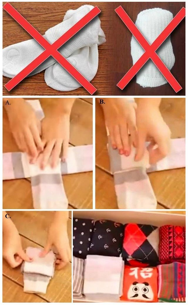 How to Fold Your Socks The Right Way