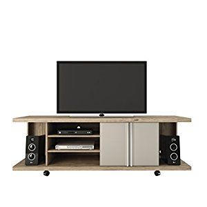 amazoncom manhattan comfort carnegie collection flat screen tv stand with storage