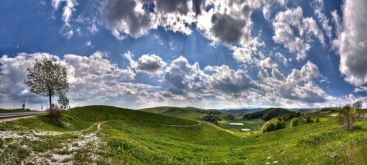 Panorama. Lessinia in Spring.