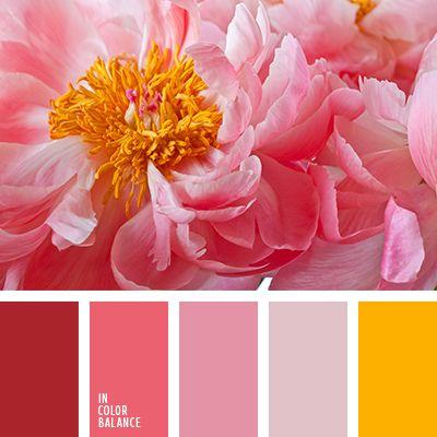 amarillo, amarillo azafranado, amarillo y rosado, burdeos, color burdeos, frambuesa, rojo, rosa pastel, rosado pálido, tonos polvorientos, tonos rosados, tonos rosados suaves.