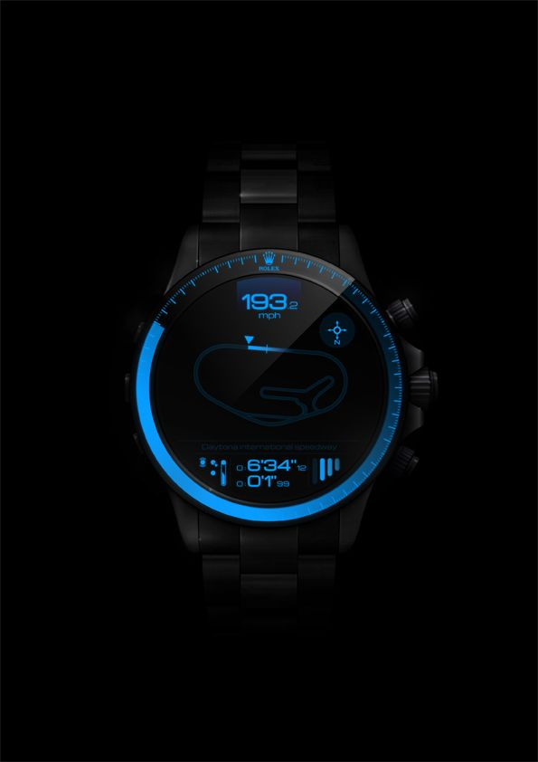 Daytona BlackPearl, digital Rolex - Vector illustration on Web Design Served