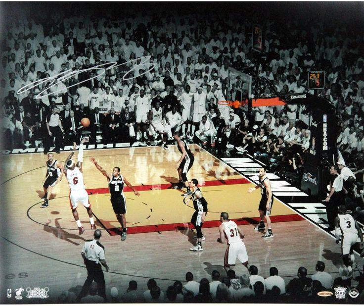 LeBron James 2013 Finals Shot Signed 20x24 Photo Collage (UDA)