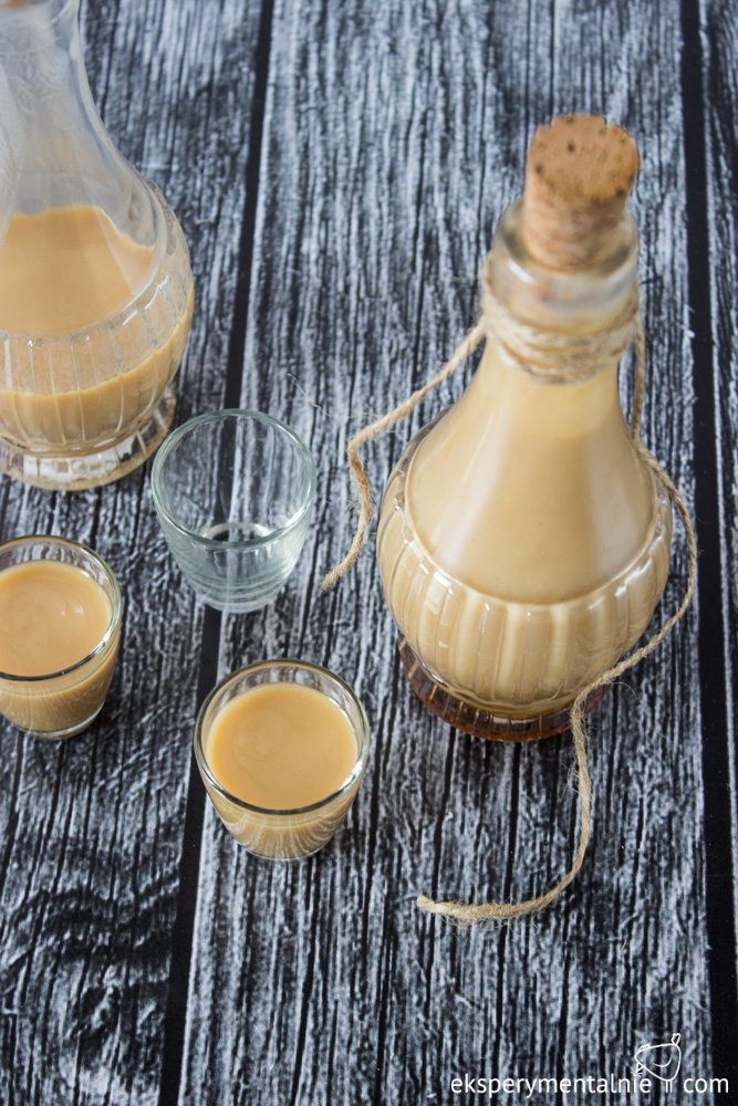 Homemade Coffee liqueur with white chocolate