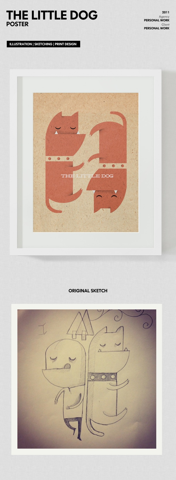 The Little Dog by Luca Armari, via Behance