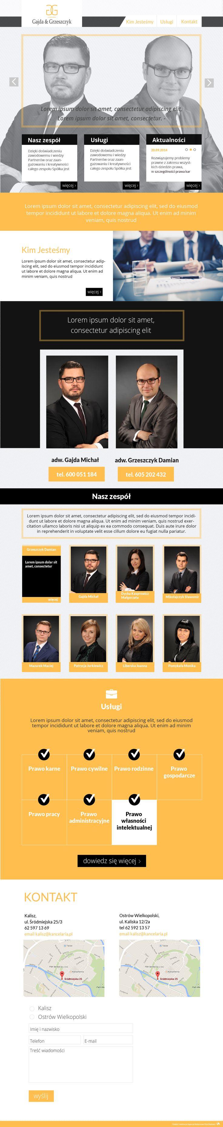 Website for lawyers    Design: www.pinkelephant.pl /web design /layout /portfolio /web /design