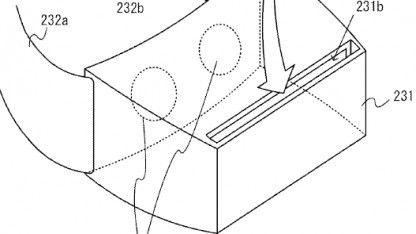 Zeichnung von Nintendo beim Patentamt zeigt ein VR-Headset