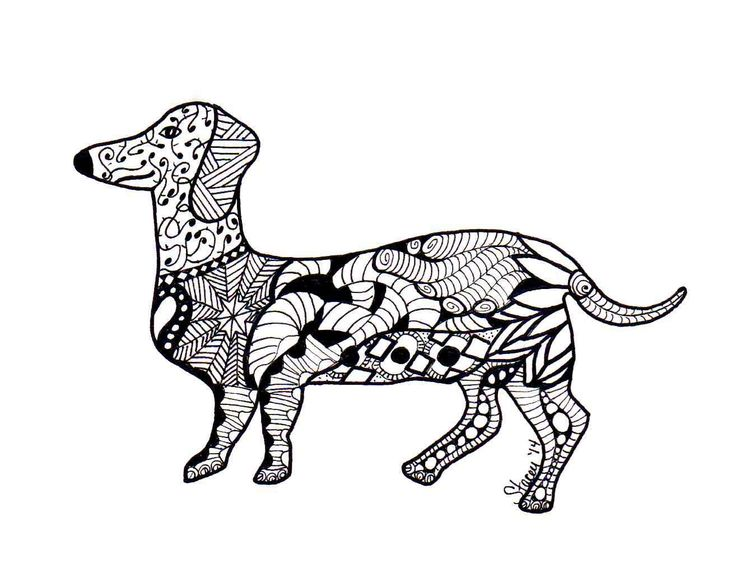 16 best Dachshund Coloring Pages images on Pinterest Dachshund dog - new snow dogs coloring pages
