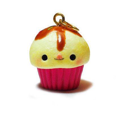 Kawaii Chocolate Icing Cupcake Charm, Miniature Food Jewelry, Cupcake Jewelry, Polymer Clay Charms, Polymer Clay Cupcake, Polymer Clay Food by ACupcakeForYou on Etsy https://www.etsy.com/listing/247743979/kawaii-chocolate-icing-cupcake-charm